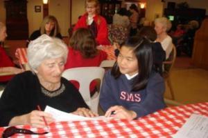 Grandma Josephine Toone and Student Audrey Le